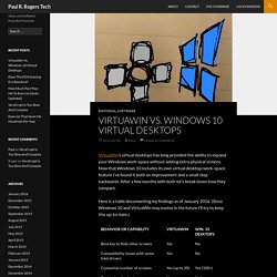 VirtuaWin Vs. Windows 10 Virtual Desktops