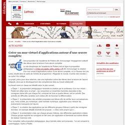 Créer un mur virtuel d'applications autour d'une œuvre complète-Lettres-Éduscol