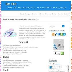 Revue de presse avec mur virtuel et collaboratif Lino – DocTICE