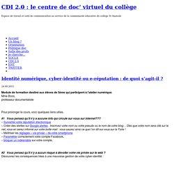 CDI 2.0 : le centre de doc' virtuel du collège » Séances pédagogiques
