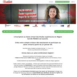 Salon virtuel des études supérieures - Région Ile-de-France