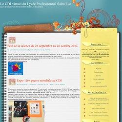 Le CDI virtuel du Lycée Professionnel Saint Luc