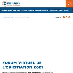 Forum virtuel de l'orientation 2021