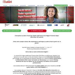 Salon virtuel des études supérieures – Région Provence-Alpes- Côte d'Azur