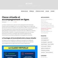 Classe virtuelle et accompagnement en ligne. - ACCAEL