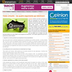 Visite virtuelle : les quatre arguments qui déchirent