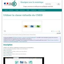 Utiliser la classe virtuelle du CNED - Enseigner avec le numérique