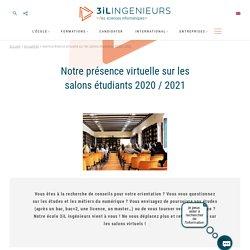 Notre présence virtuelle sur les salons étudiants 2020 / 2021