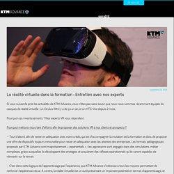 La réalité virtuelle dans la formation : Entretien avec nos experts