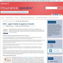 AXA : appli mobile et agence virtuelle