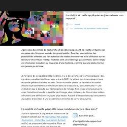 La réalité virtuelle appliquée au journalisme - un rapport