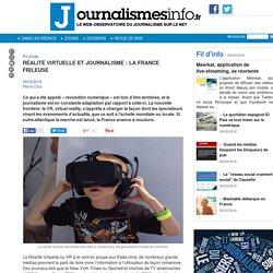 Réalité Virtuelle et journalisme : La France frileuse