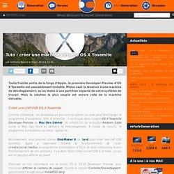 Tuto : créer une machine virtuelle OS X Yosemite