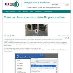 Créer en classe une visite virtuelle personnalisée