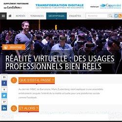 Réalité virtuelle : des usages professionnels bien réels