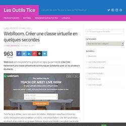 WebRoom. Créer une classe virtuelle en quelques secondes