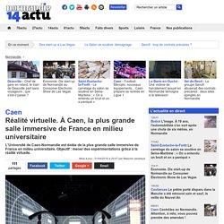 Réalité virtuelle. À Caen, la plus grande salle immersive de France en milieu universitaire