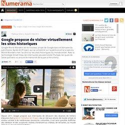 Google propose de visiter virtuellement les sites historiques
