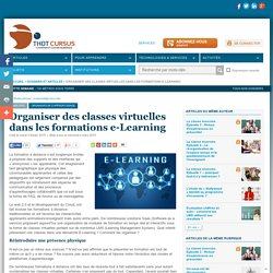 Organiser des classes virtuelles dans les formations e-Learning