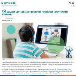 Classes virtuelles et lectures publiques