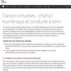 Classes virtuelles : chahut numérique et conduite à tenir