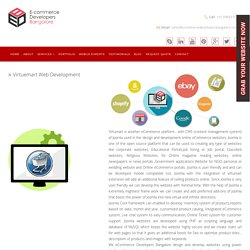 Virtuemart Ecommerce Web Development Company in India