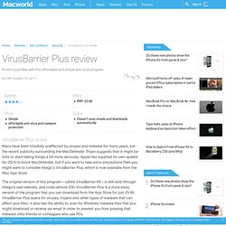 VirusBarrier Plus review - Mac software