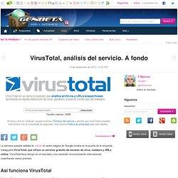 VirusTotal, análisis del servicio. A fondo
