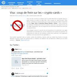 Visa : coup de frein sur les «crypto-cards»