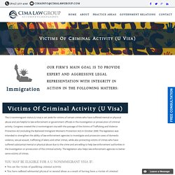 U Visa Immigration Lawyer