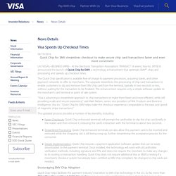 Visa Inc. - Visa Speeds Up Checkout Times