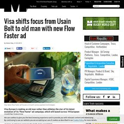 Visa shifts focus from Usain Bolt to old man with new Flow Faster ad