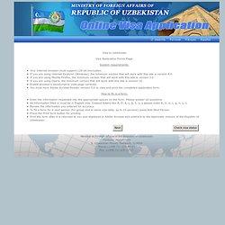 Visa to Uzbekistan