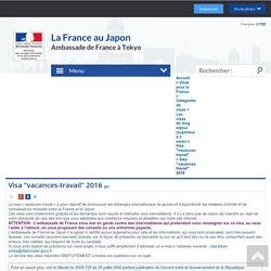 """Visa """"vacances-travail"""" 2016"""