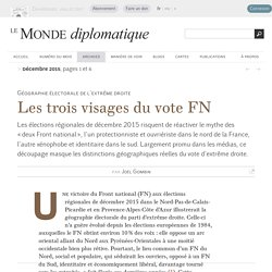 Les trois visages du vote FN, par Joël Gombin (Le Monde diplomatique, décembre 2015)