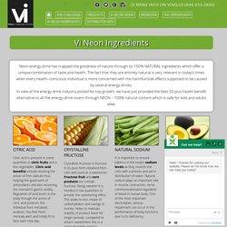 Visalus Neon Energy Drink Natural Ingredients