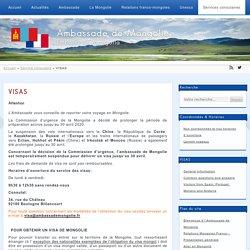 VISAS - Ambassade de Mongolie