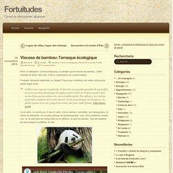 Viscose de bambou: l'arnaque écologique