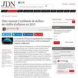 Uber viserait 2 milliards de dollars dechiffre d'affaires en 2015