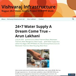 24x7 Water Supply A Dream Come True - Arun Lakhani