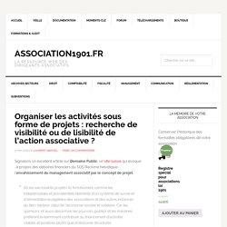 Organiser les activités sous forme de projets : recherche de visibilité ou de lisibilité de l'action associative ?