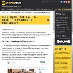 Sites internet pro et VAE : la visibilité de l'ostéopathe biomécanicien