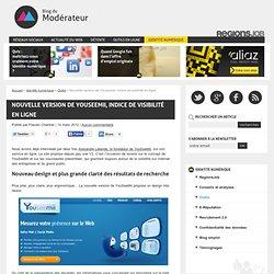 Nouvelle version de Youseemii, indice de visibilité en ligne