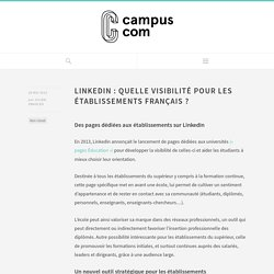 LinkedIn : quelle visibilité pour les établissements français ?