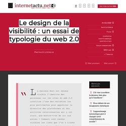 Le design de la visibilité : un essai de typologie du web 2.0