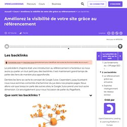 Les backlinks - Améliorez la visibilité de votre site grâce au référencement