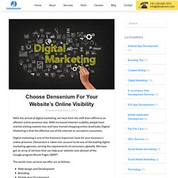Choose Densenium For Your Website's Online Visibility - Densenium India Private Limited- A Best Digital Marketing Agency & Website Development