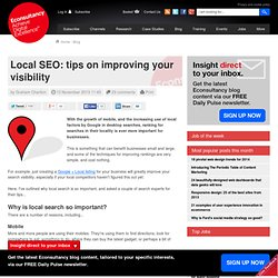 Local SEO: tips on improving your visibility