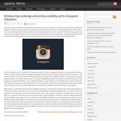 Achieve top rankings and online visibility with instagram followers