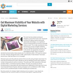 Get Maximum Visibility of Your Website with Digital Marketing Services